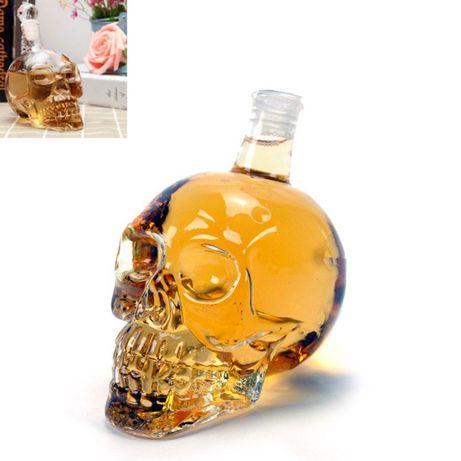 Бутилка ЧЕРЕП, Нестандартна бутилка Оригинален подарък за ХЕЛОУИН