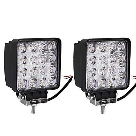 2бр. Халогени диодни 48W LED Работна Лампа Светлина на 12V и 24V