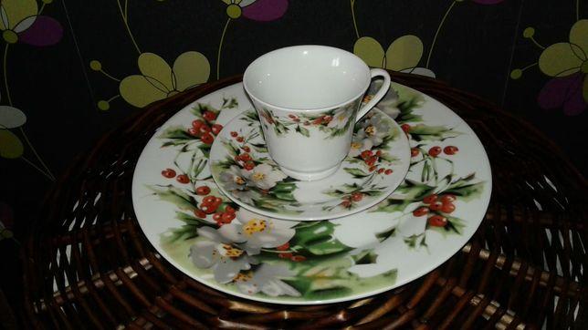 Продам чайный набор с большой тарелкой  на 12 персон (1500 тг.).