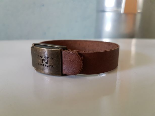Bratara Piele Tommy Hilfiger Leather Cuff Originala Vintage