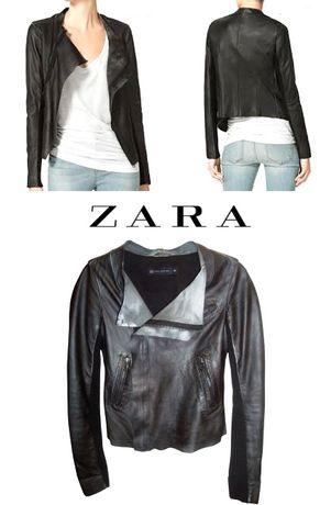 Geaca de piele Zara