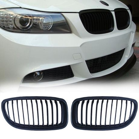 Бъбреци БМВ Е90 черни фейслифт BMW маска преди фейс решетка М3 пакет Х