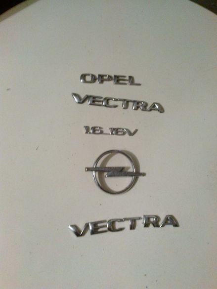 комплект емблеми и надписи за опел вектра