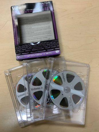 Verbatim Digital Movie DVD-R 3 Pack, 4,7 ГБ, 120 мин Скорость 1x-4x
