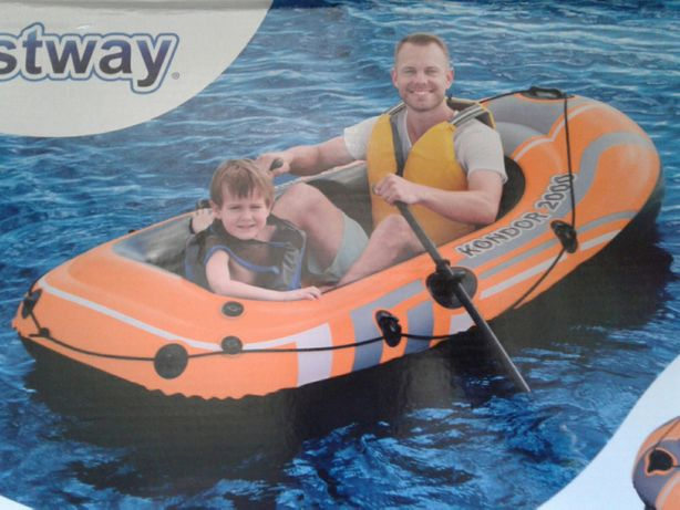 Barca Kondor + vasle + pompa, sarcina 120kg,188x98x30cm, noua,sigilata