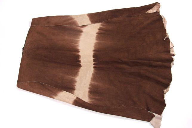 Fusta piele naturala caprioara, mas 46-48, Made in India, NOUA