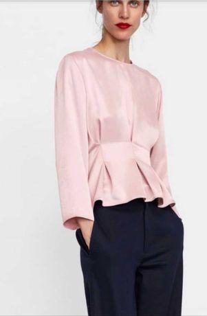 Bluză cu aspect satinat Zara
