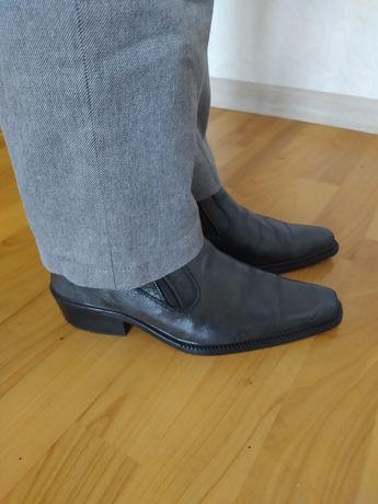 Сапоги ботинки зимние кожаные