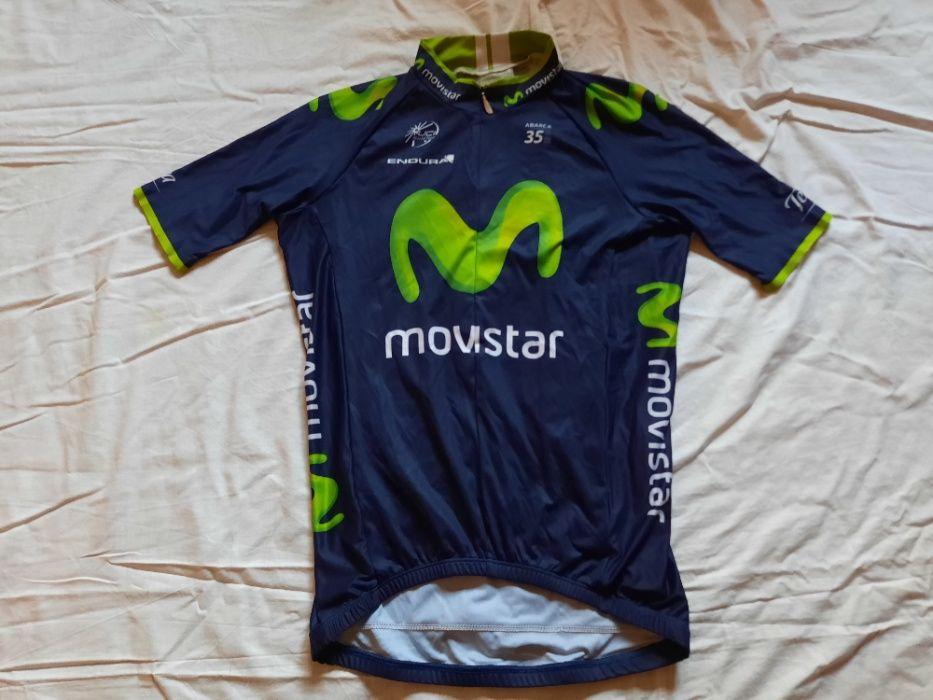 Tricou ciclism Movistar Endura marimi S , M , L , XL Iasi - imagine 1