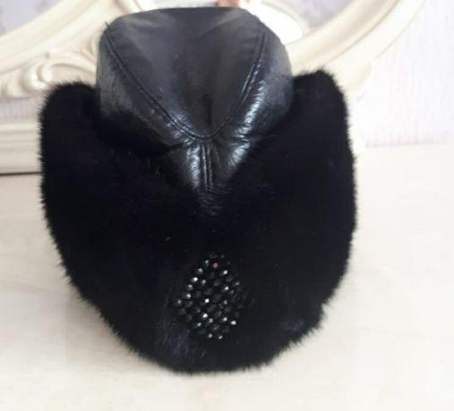 Продам головной убор комбинированный норка+натуральная кожа