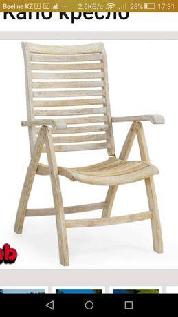 Продам 4 Кресла с подлокотниками из тика подходит для террасы, двора,