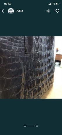 Натуральная  кожаная сумка из крокодильей кожи
