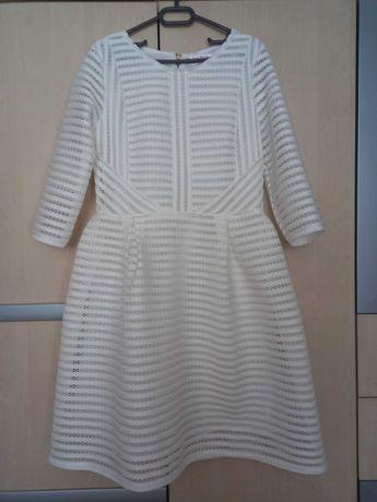 Мрежеста нова бяла рокля