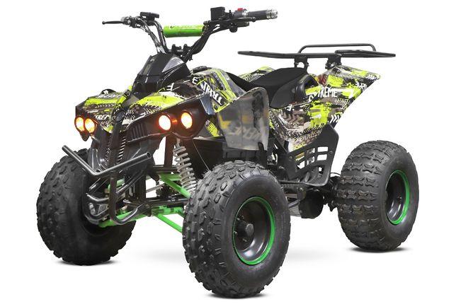 ATV electric Eco Warrior 1000W 48V 20Ah cu DIFERENTIAL #Verde Grafiti