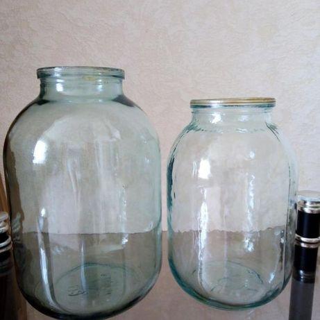 Банки стеклянные литровые и 700 гр