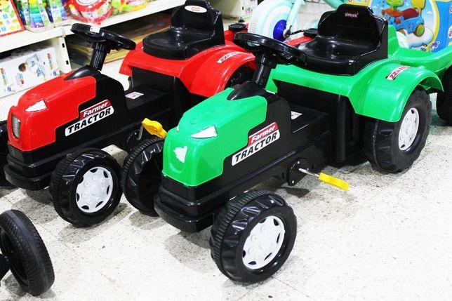 Tractor copii cu pedale si remorca NOU