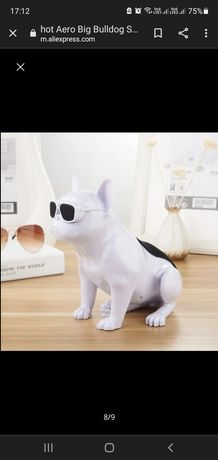 Оригинален S4 Aero Bull безжичен Bluetooth високоговорител куче Булдог
