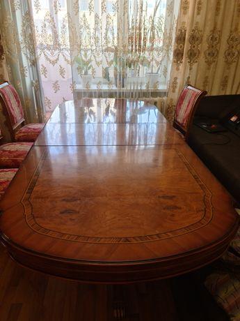 Стол гостевой большой со стульями