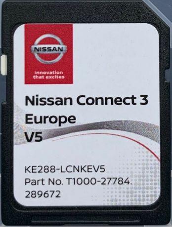 Ново 2020г NISSAN CONNECT3 V5 Навигационна SD Card сд карта Нисан
