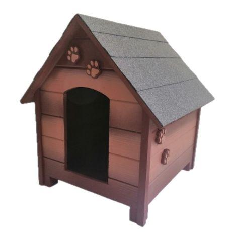 Къща за куче - Кафява,размер М - Къщичка за кучета,Колиба за куче