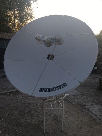 Спутниковая антенна, 2 тюнер и пульт в отличном рабочем состаянии
