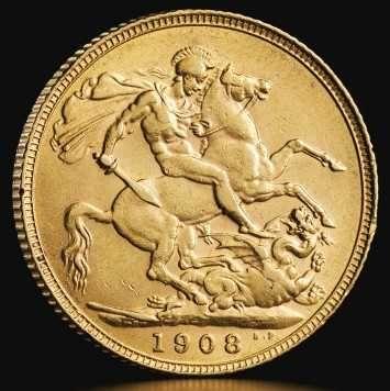 Monede din Aur,-SOVEREIGN, de 22k,  moneda cantareste 7.99 grame.