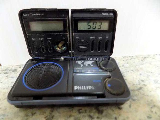 Radio vintage Philips - travel radio/clock D-1868