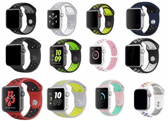 Силиконова каишка Apple Watch 44mm 42mm 40mm 38mm
