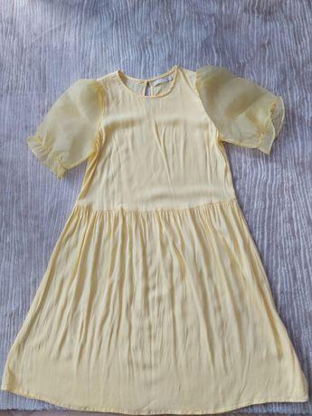 Жълта лятна рокля, размер М-Л