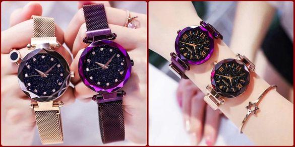 Дамски часовници с магнитна закопчалка верижка закопчаване за жени