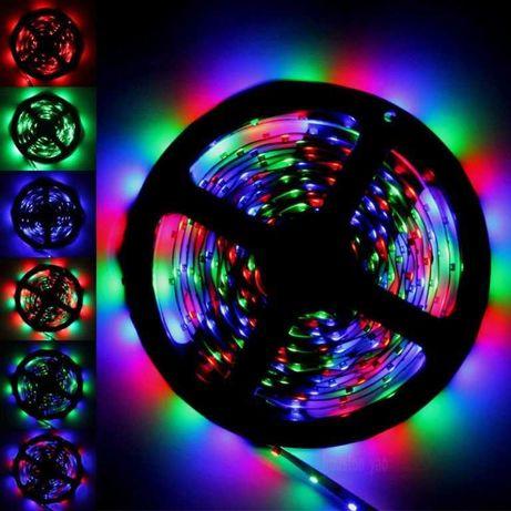 Комплект 5метра RGB лед лента + Контролер + Дистанционно LED