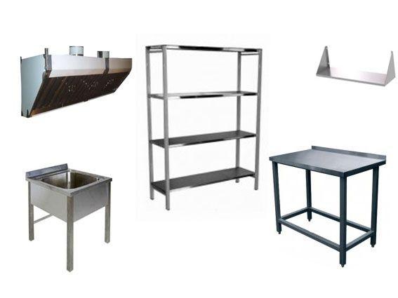 Столы разделочные, полки из нерж.стали, стеллажи, ванны