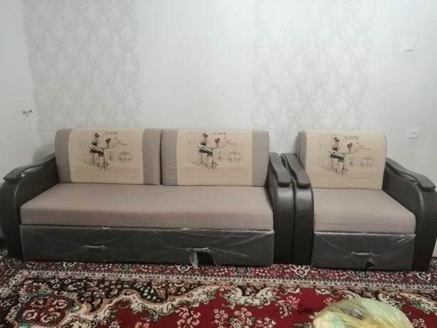 Продам диван +кресло. Практически новый. Дом тел 7-85-05