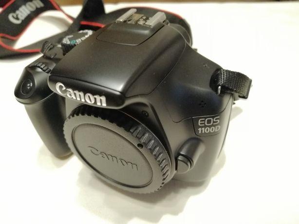 Vând aparat foto Canon 1100D cu 3 obiective, blitz, trepied
