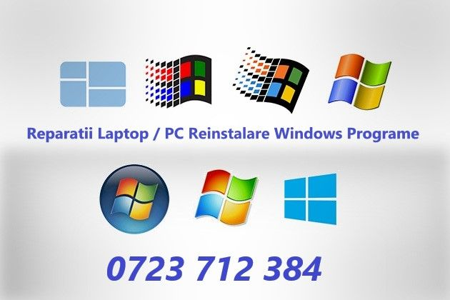 Instalare Windows / Reparatii Laptop / Desktop