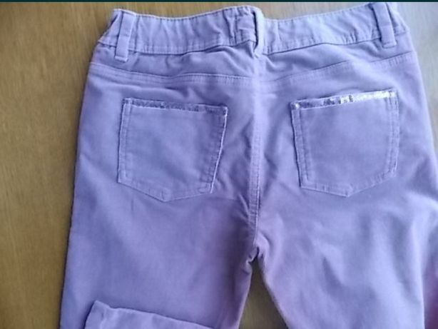 Pantaloni raiat roz mar 156-160 10-13 ani