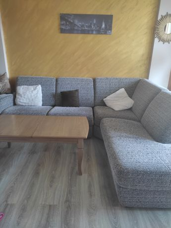 Италиански голям холов ъглов диван