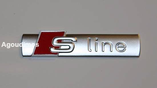 S Line емблема, стикер, бадж, лого за Audi, залепяща се