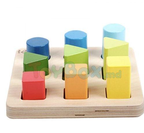 Jucărie din lemn Noriel - Sortator culori și forme