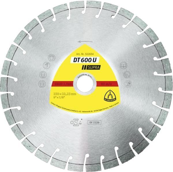 Disc diamantat segmentat 230x22.23mm Klingspor Supra DT600U - 322634 Cluj-Napoca - imagine 1