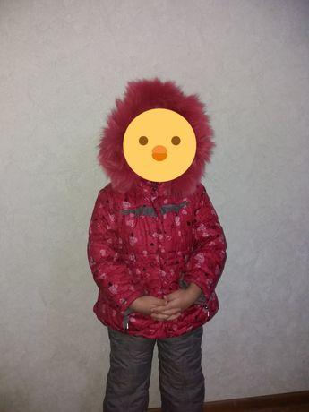 Комбинезон зимний для девочки KIKO на рост 98 - 104 см.
