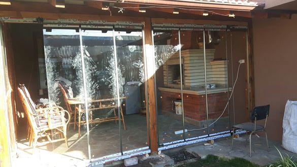 Само сега сгъваеми стъкла, за тераса, веранда , барбекю 170лв. Кв.м