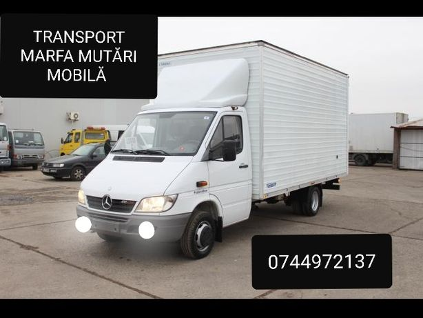 Transport marfa mutări mobila bagaje dube și  camion TIR cu lift
