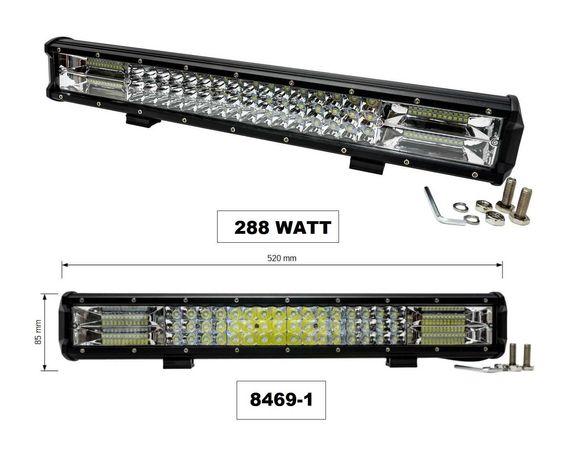 Супер Мощен LED BAR 59.2 см 12v/24v 288W