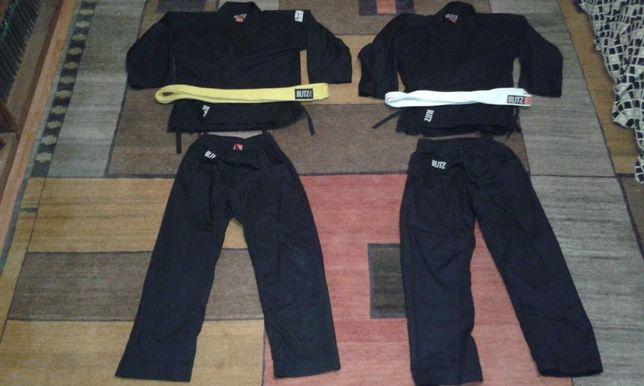 2 x Kimono Karate 140 cmm complet cu centura