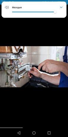 Ремонт газовых горелок колонок котлов печьки Услуги сантехника