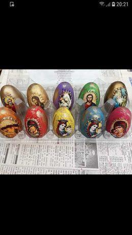 Дървени яйца с икона