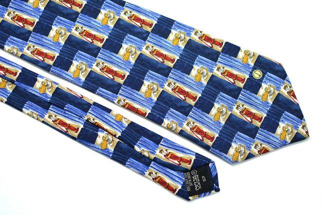 Cravata Barbati Dunhill 10 x 141 cm Albastra Golf Matase CR151