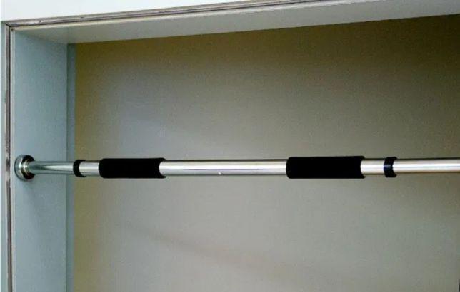Раздвижной турник в дверной проем (для дома, квартиры) от 120 см - 200