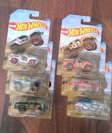 Machete HotWheels - set Offroad Trucks complet ( Ford, Subaru, Jeep)